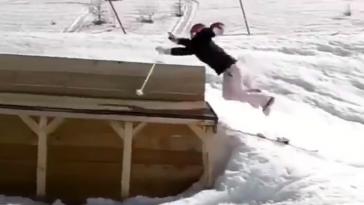Skier Crashes